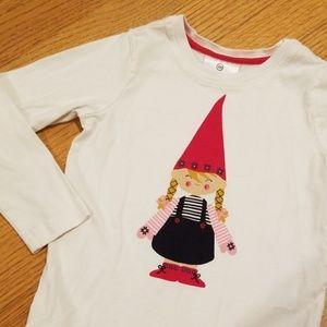 Hanna Andersson Girl Gnome Long Sleeve Shirt